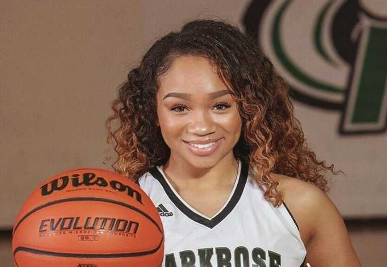 Parkrose's Imani Royster made eight three-pointers on her way to 38 points Monday.
