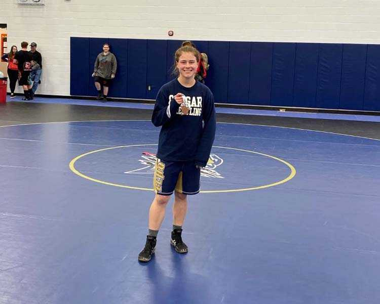 The opportunity to wrestle against other girls spurred Kaitlyn Lemmon to try wrestling as a senior
