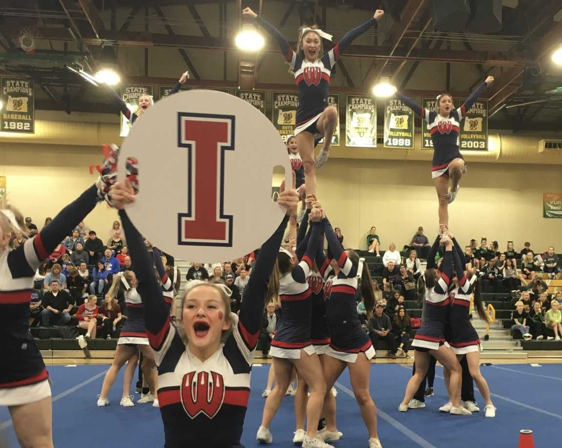 The Westview Wildcats demonstrated their impressive stunting ability at West Linn.