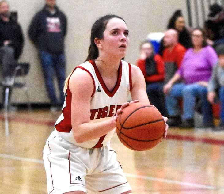 Olivia Sprague had seven steals in Clatskanie's win over Willamina. (Photo courtesy Clatskanie HS)