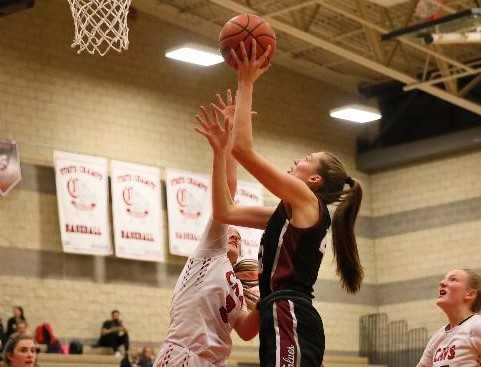 Tualatin's Natalie Lathrop is averaging 17.5 points, 9.2 rebounds and 4.2 blocks. (Photo by Emily Johansen)