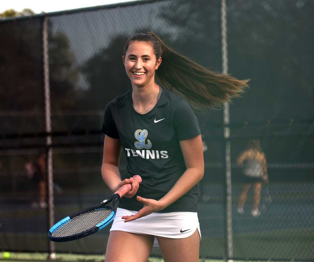 Nicole Rogers didn't play competitive tennis until her freshman year at Lakeridge. Photo by Jenny Li