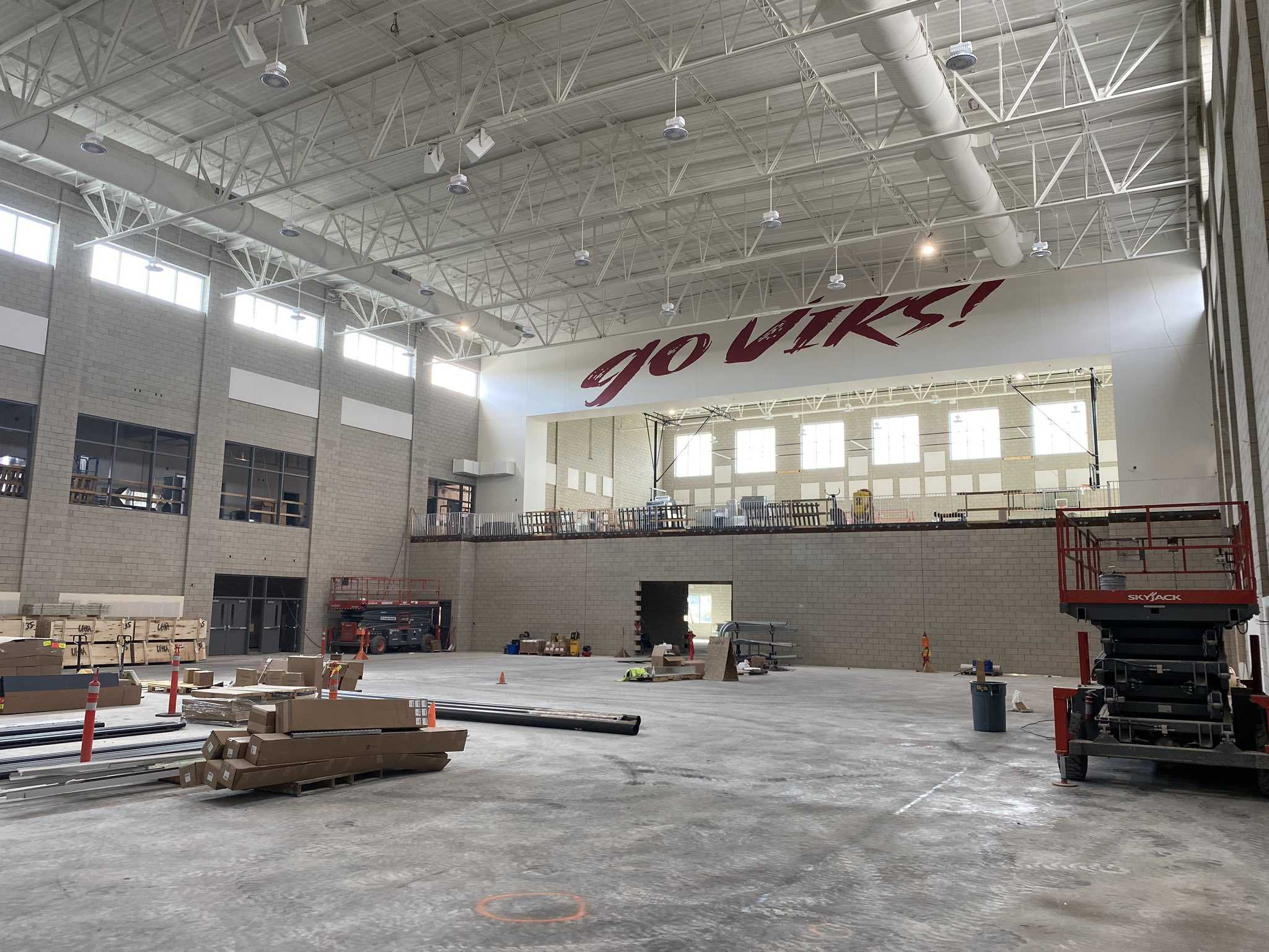 Construction on the North Salem gym is scheduled to be completed in August. (Photo courtesy North Salem HS)