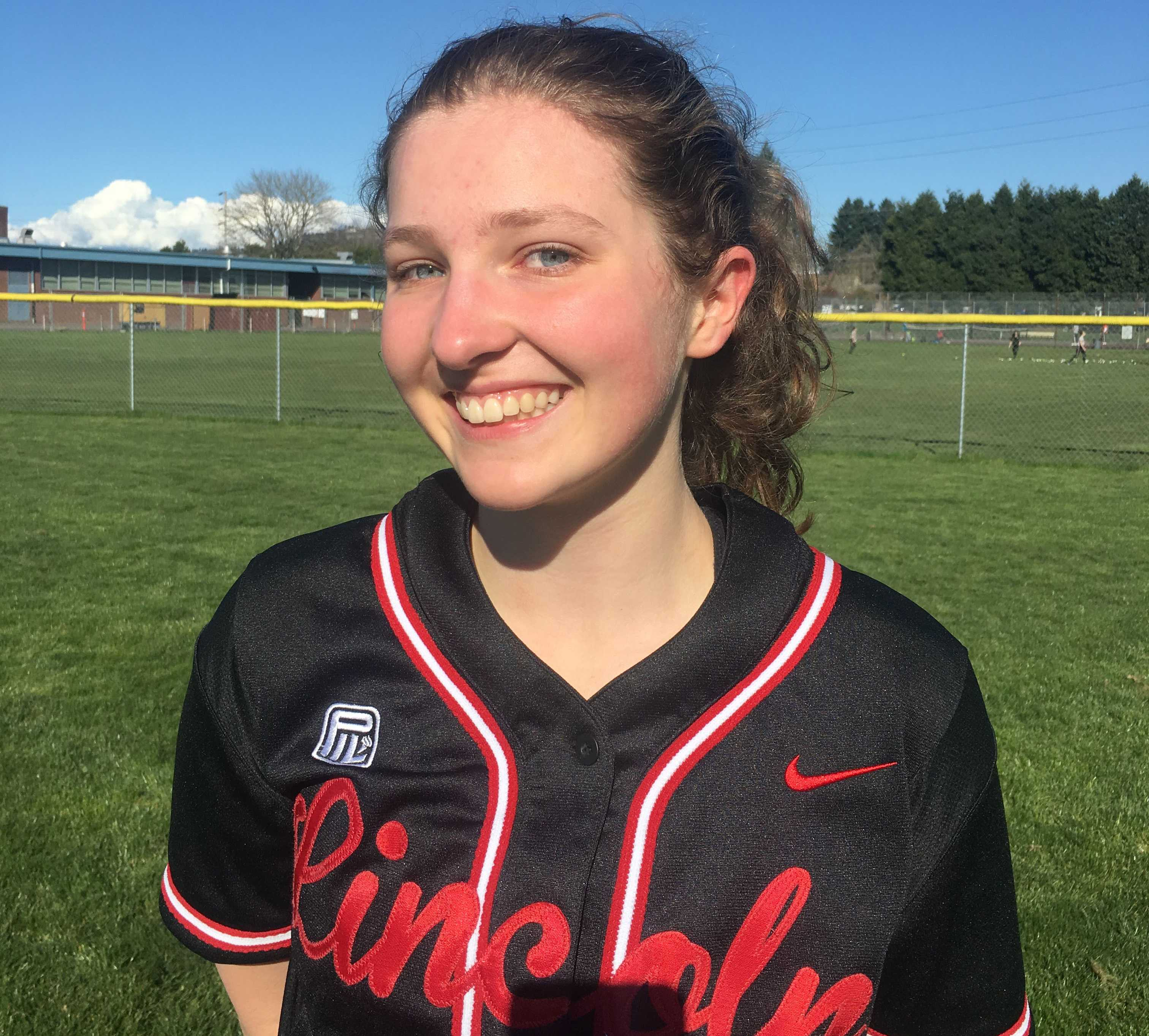 Rachel Haughton emphasizes that the Cardinal Rule of softball is to focus on the next play not the last one