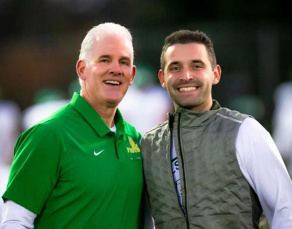 Chris Miller coached with his son, Dillon, for five of his six seasons at West Linn. (Photo by Brad Cantor)