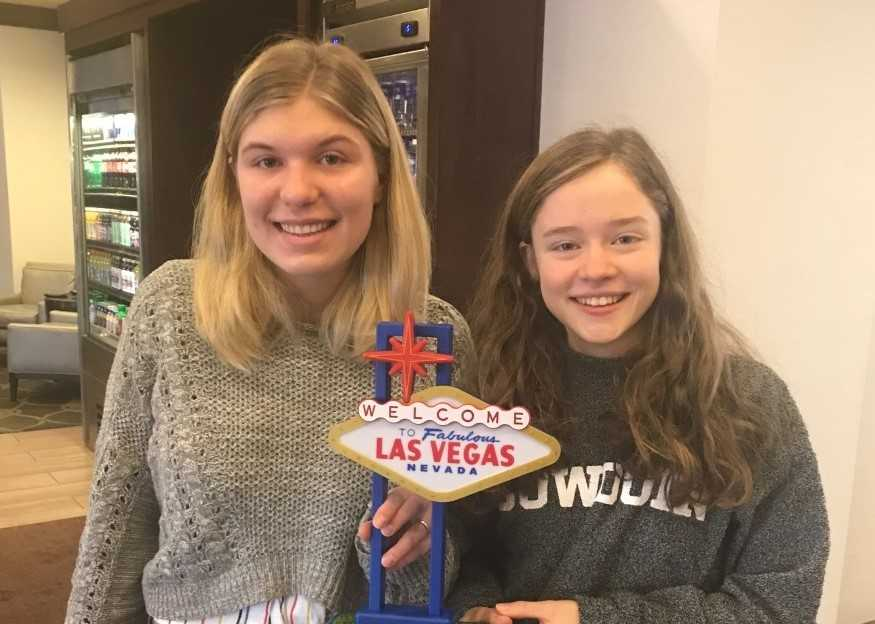 Daisy Hagen (left) and Katrina Carrier qualified for a prestigious national tournament this year.