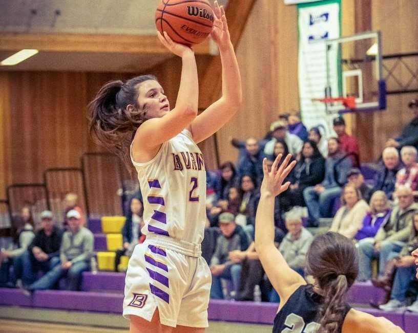 Allie Hueckman has scored 1,310 points in her three seasons at Burns. (Photo by Brad Swann)