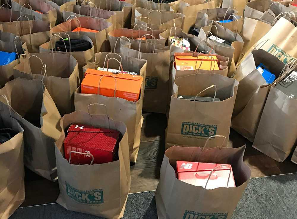 Shopping at Dick's Sports Goods to be smiles on students' faces is part of what the OSAA Foundation does