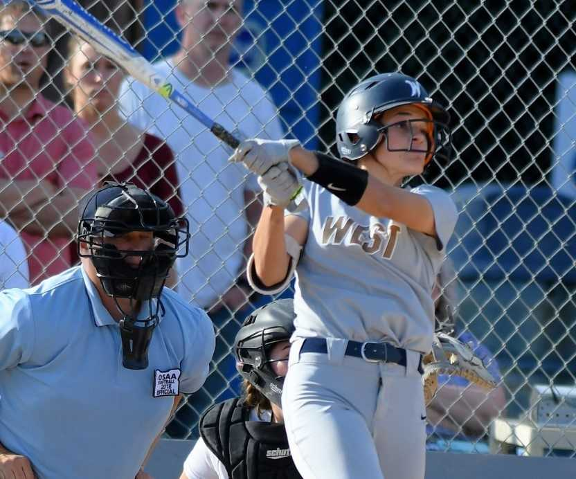 Presley Jantzi hit .543 as a sophomore, making the 5A first team as a utility player. (Photo by Leon Neuschwander)