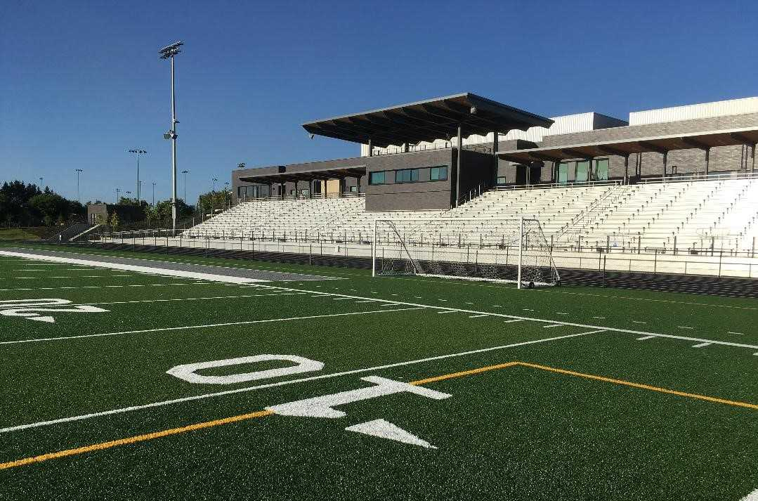 The football stadium at Nelson High School in Happy Valley is ready for the season opener Sept. 3 against Barlow.