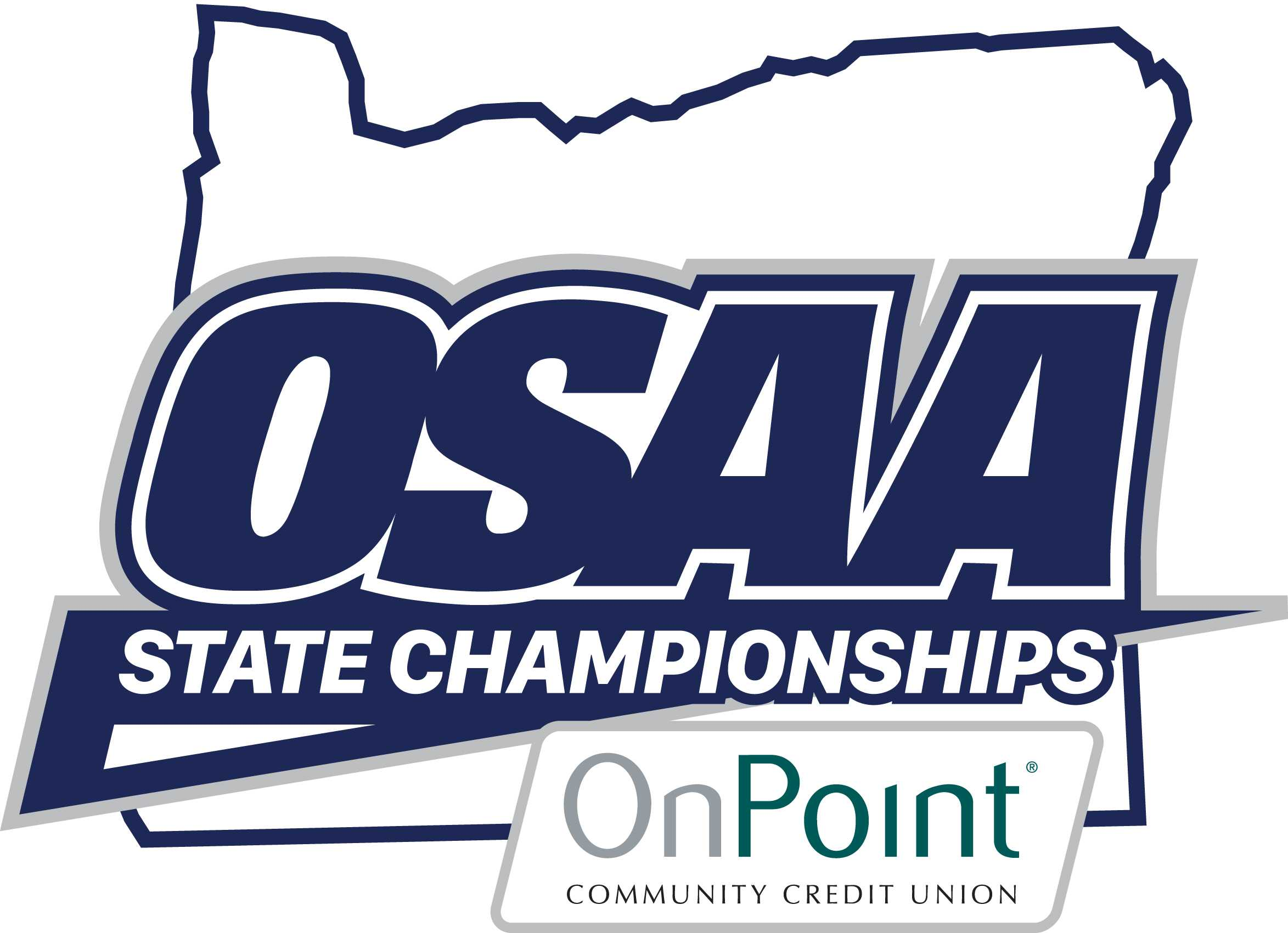 This new logo will be used to brand OSAA State Championships and the OSAA's partnership with OnPoint Community Credit Union.