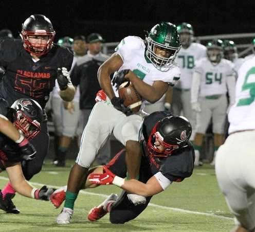 Reynolds sophomore Miles Wilson has rushed for 1,054 yards this season. (Photo courtesy Clackamas Touchdown Club)
