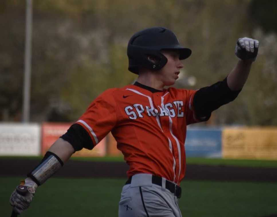 Sprague's Michael Soper had three hits in a 6-5, nine-inning win over North Salem. (Photo by Jeremy McDonald)