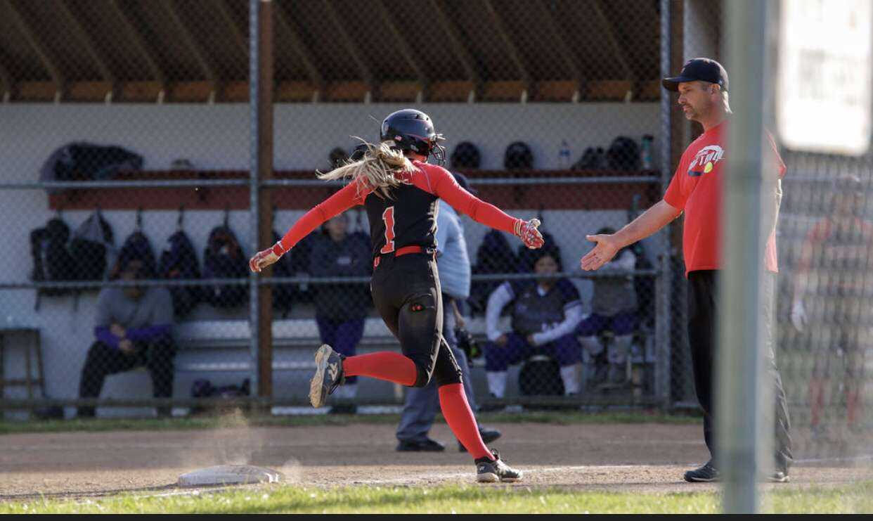 Sophomore Olivia Sprague and Clatskanie cruised past Scio on Friday. (Photo by Luke Roth)